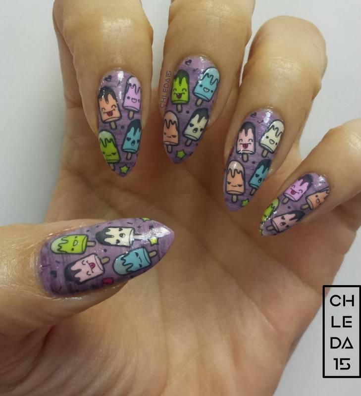 Cream Pop Cuties nail art by chleda15