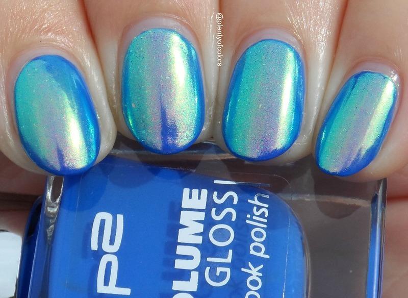 P2 Working Girl and Beauty Bigbang Aurora Unicorn Pigment Swatch by Plenty of Colors