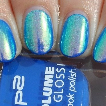 P2 Working Girl and Beauty Bigbang Aurora Unicorn Pigment Swatch by Plenty of Colors