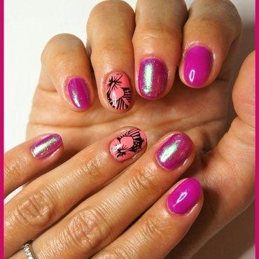 Hibiscus nail art by ELIZA OK-W