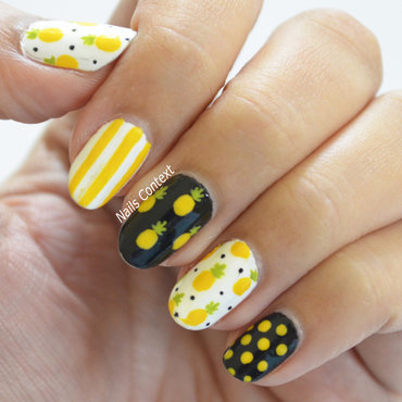 Pineapple Nails nail art by NailsContext