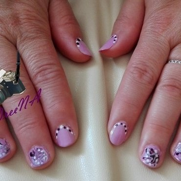 Royal pink and purple touch nail art by LOreeNA