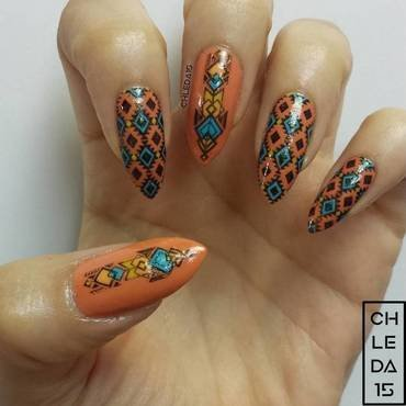 South-Western Summer nail art by chleda15