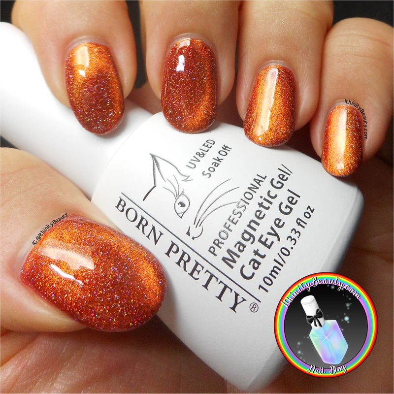 Born Pretty Store Magnetic Holographic Cat Eye Gel Polish Swatch by Ithfifi Williams