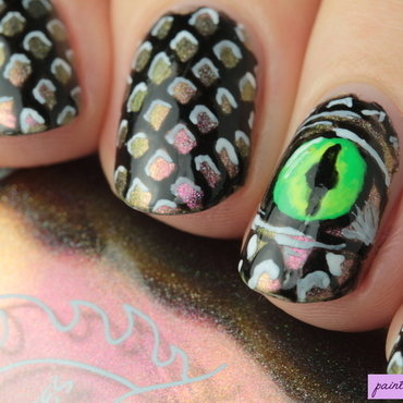 Dragon eye nail art thumb370f