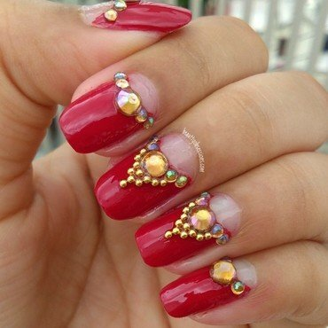 Bridal Nailart  nail art by snigdha_p