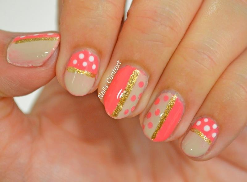 Coral Nails  nail art by NailsContext