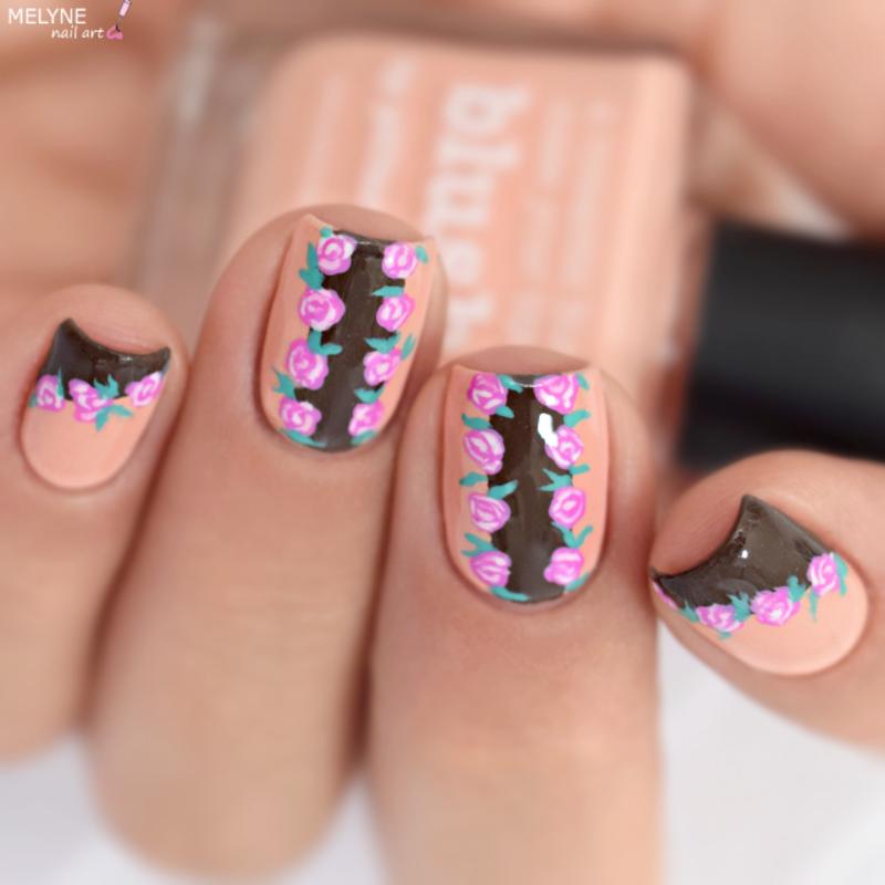 Romantic nail art nail art by melyne nailart