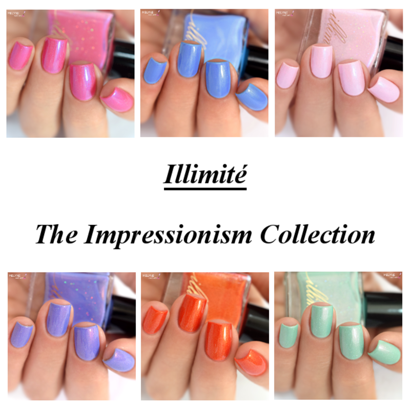 Illimité The Impressionism Collection Swatch by melyne nailart