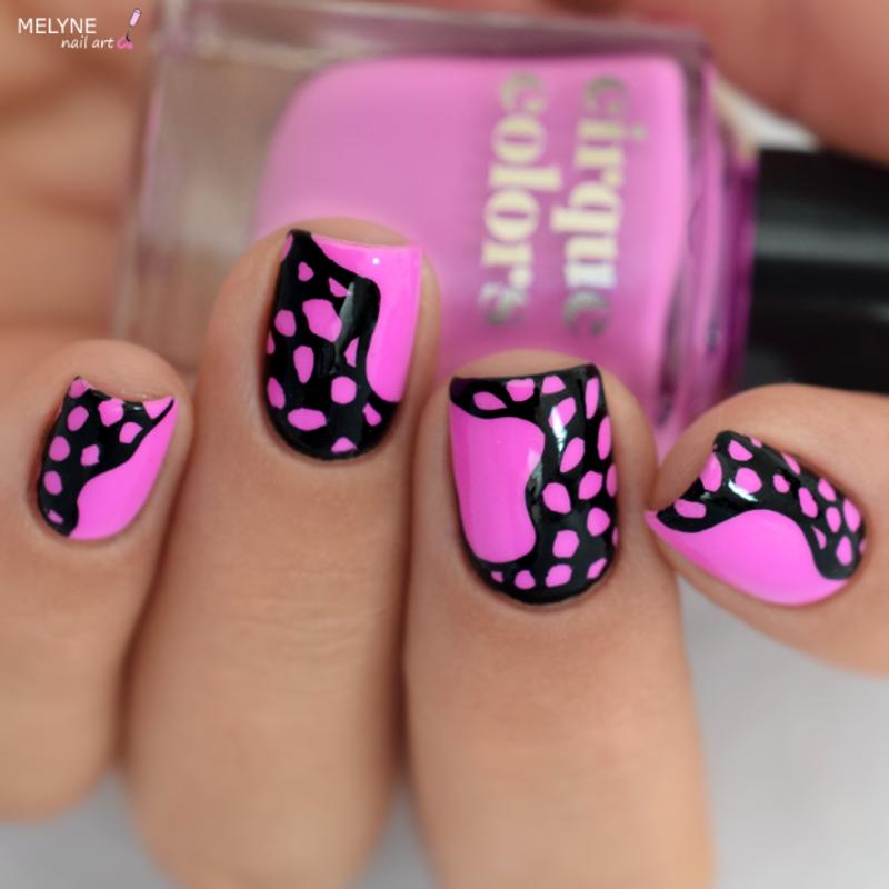 Easy Abstract nail art with acrylic paint nail art by melyne nailart