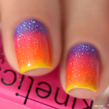 Sunser gradient nail art nail art by melyne nailart