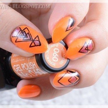 Neon power nail art by Jadwiga
