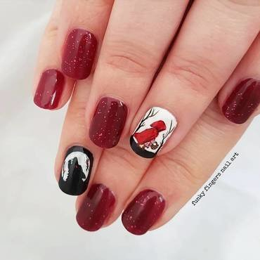 Little red riding hood nails nail art by Funky fingers nail art