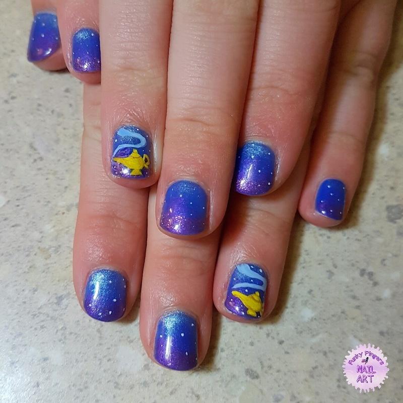 Aladdin nails nail art by Funky fingers nail art