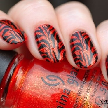 Tigress nail art by Yasinisi