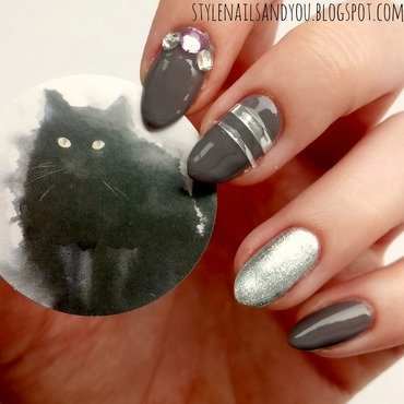 The Cloudy Day nail art by StyleNailsAndYou