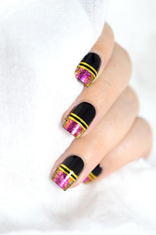 Bling flakies nail art by Marine Loves Polish