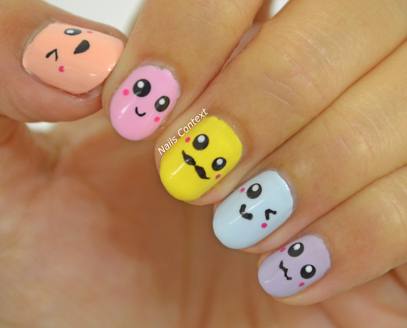Kawaii Nails  nail art by NailsContext