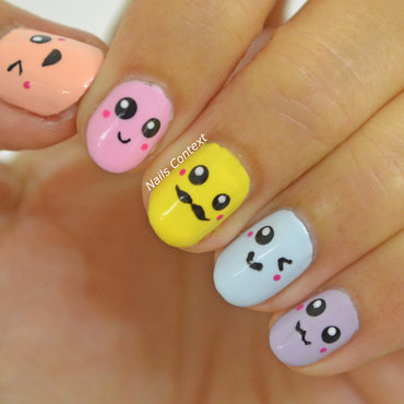 Kawaii Nails  nail art by NailsContext