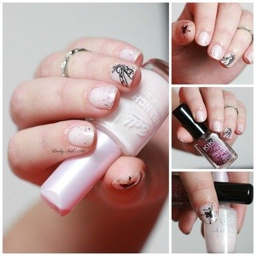 Nail art stamping ballerine nail art by Lovely Nail's  Art