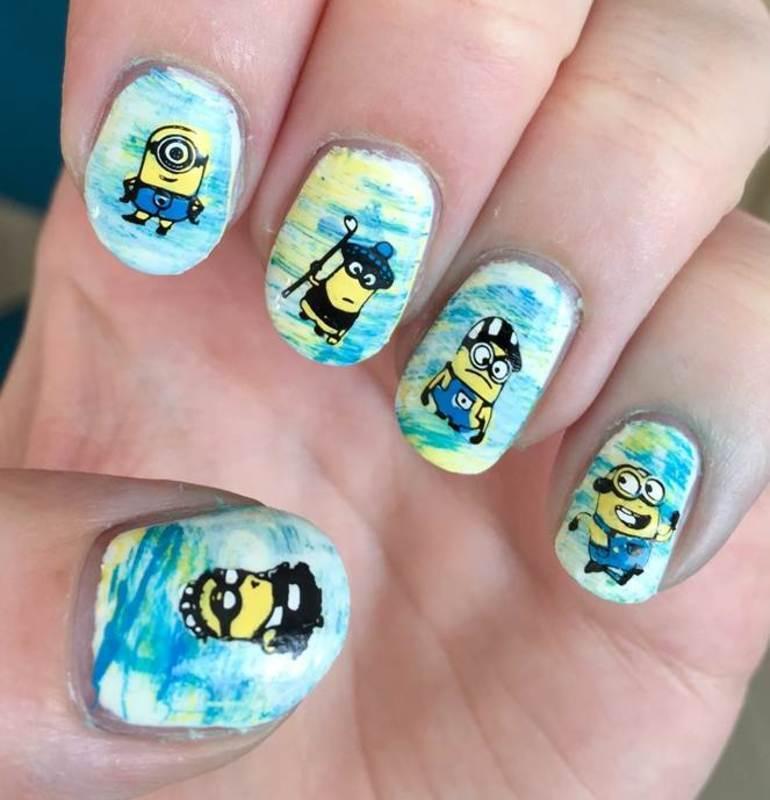 Minions nail art by Meggy