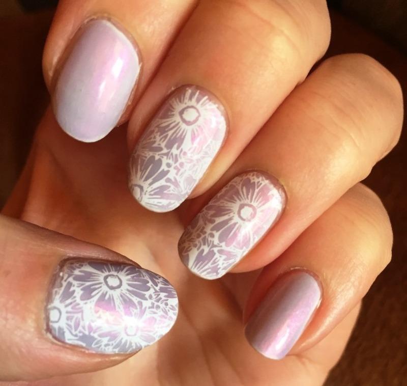 My Lilac Wedding nail art by Meggy
