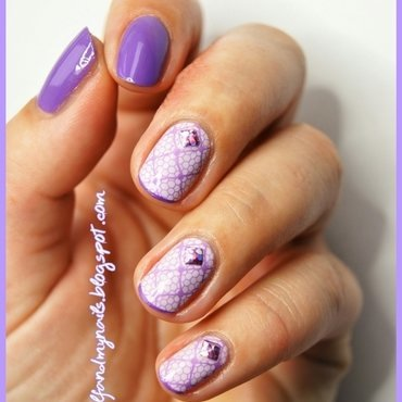 Lace & studs nail art by ELIZA OK-W