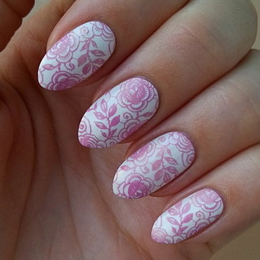 Summer Vacation Nail Project - Laces nail art by Mgielka M