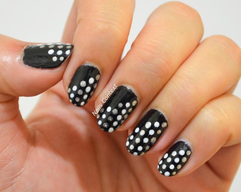 Simple Polka Dots  nail art by NailsContext