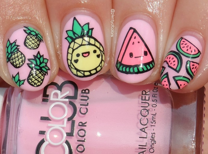 #5yearsplentyofcolors Fruit nail art by Plenty of Colors