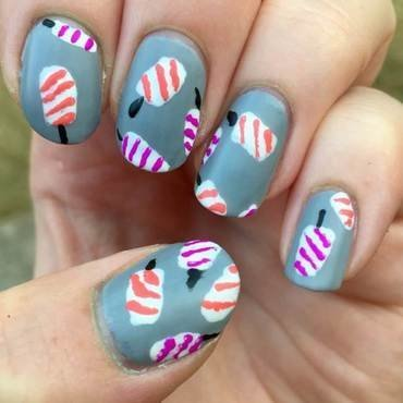 Popsicles nail art by Meggy