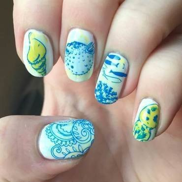 Ocean Life nail art by Meggy