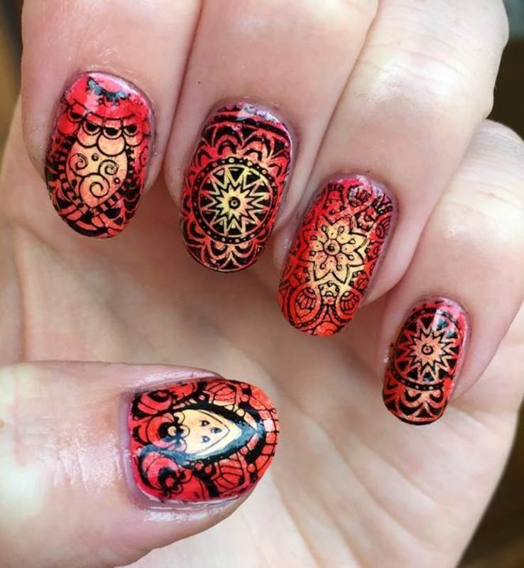 Mandala nail art by Meggy