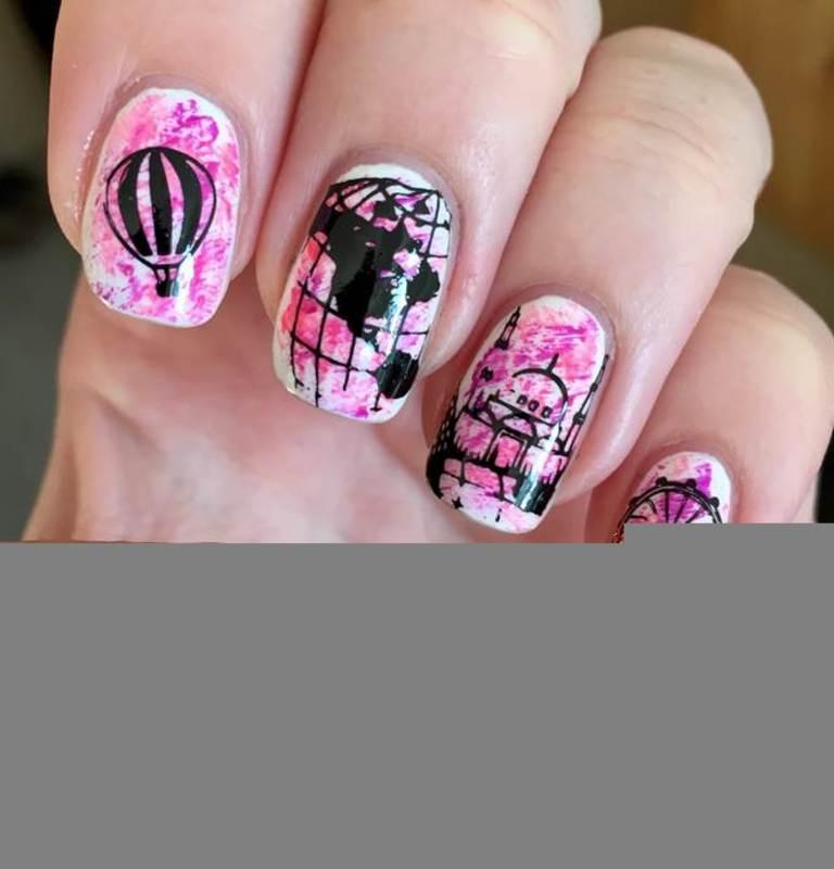 Travel nail art by Meggy