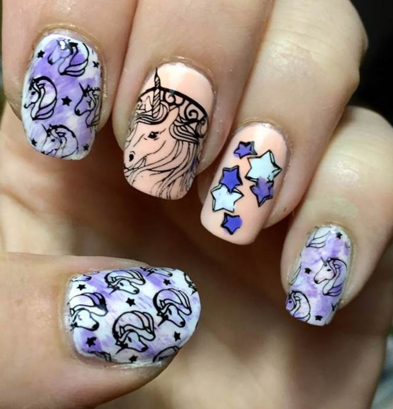 Unicorns Are Real nail art by Meggy