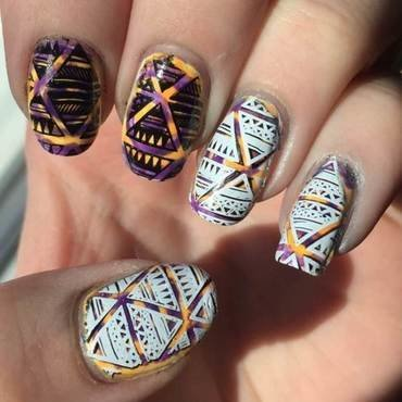 Aztec nail art by Meggy