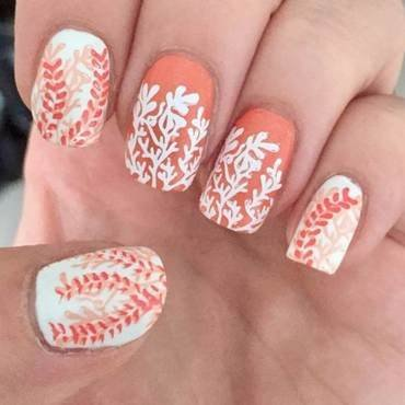Corals nail art by Meggy