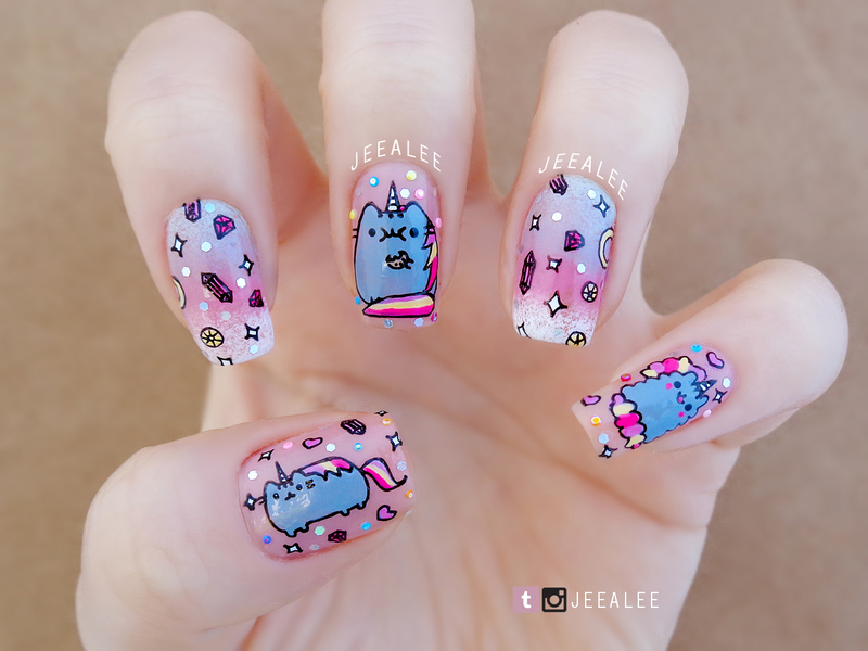 Pusheen unicorn nails nail art by jeea lee nailpolis museum of pusheen unicorn nails nail art by jeea lee prinsesfo Image collections