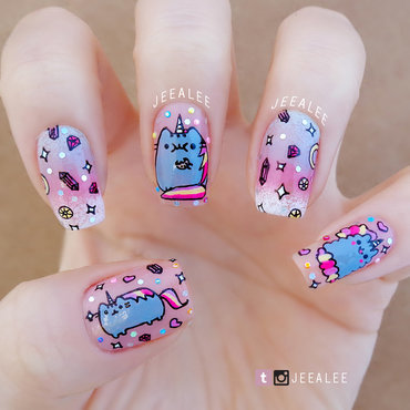 Pusheen 20unicorn 20nails 20  20post thumb370f