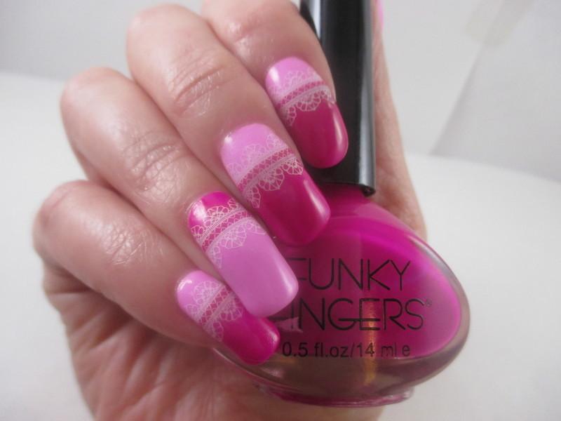 Pink Passion nail art by NinaB