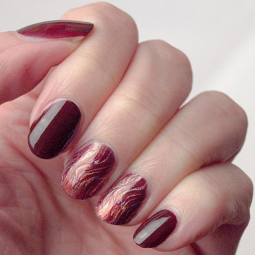 Sparkly fall nail art by What's on my nails today?