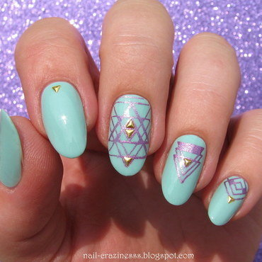 Geometry nail art by Nail Crazinesss