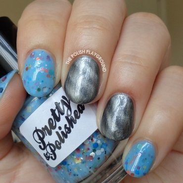 Blue 20crelly 20with 20grey 20magnetic 20polish 20nail 20art thumb370f