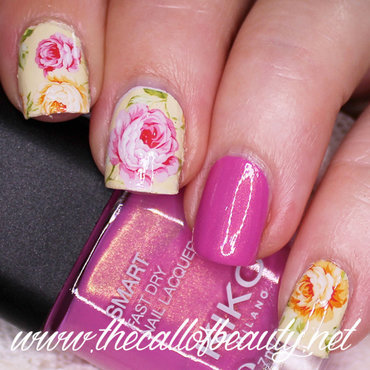 Old Fashion Roses nail art by The Call of Beauty