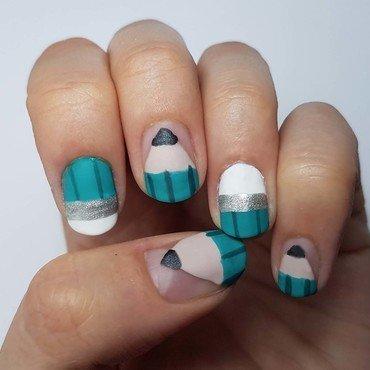 back to school nail art by Depoli
