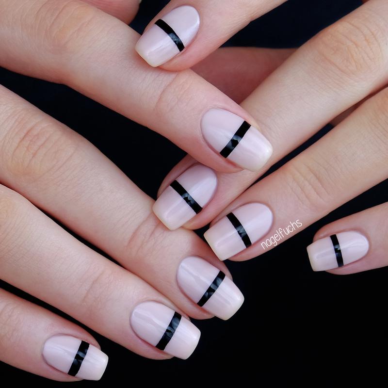 Black Lines nail art by nagelfuchs - Nailpolis: Museum of Nail Art
