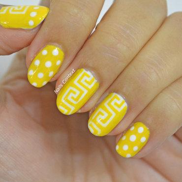 Greek Nails  nail art by NailsContext
