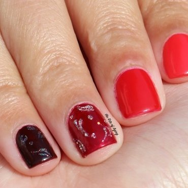 All About the Red nail art by Monica