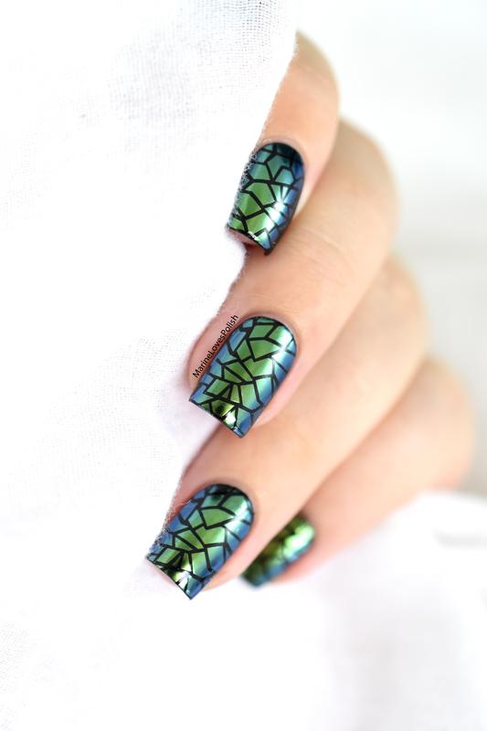 Chrome Dragon Nails nail art by Marine Loves Polish