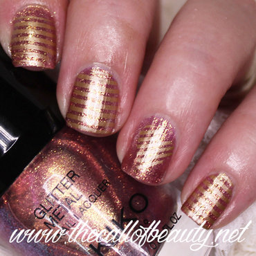 Metallic Stripes nail art by The Call of Beauty